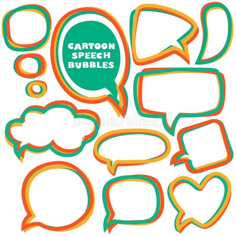 Cartoon speech bubbles. vector illustration