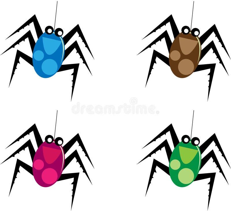 Cartoon spider. A clip art illustration of a cartoon spider vector illustration