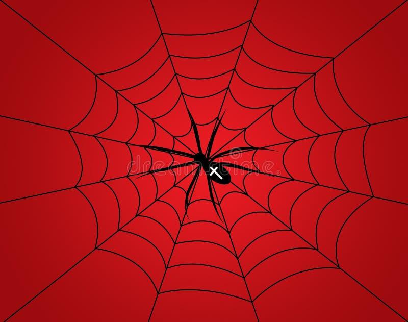 Cartoon spider. On a background stock illustration