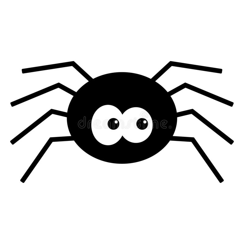 Cartoon Spider Stock Vector Illustration Of Black Background 125844488