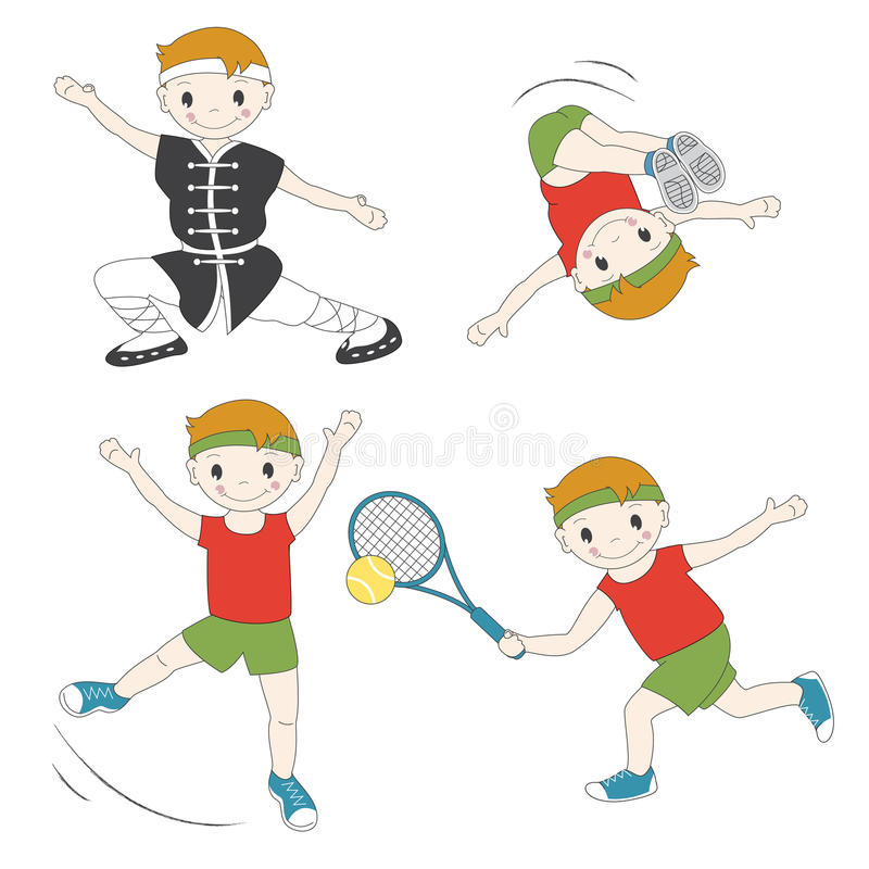 Download Cartoon sport kids stock vector. Illustration of color - 26820769