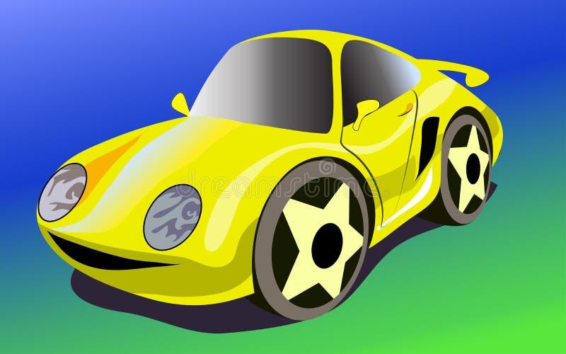 Cartoon sportcar royalty free illustration