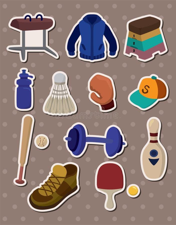 Download Cartoon Sporting Goods Stickers Stock Vector - Image: 24750385