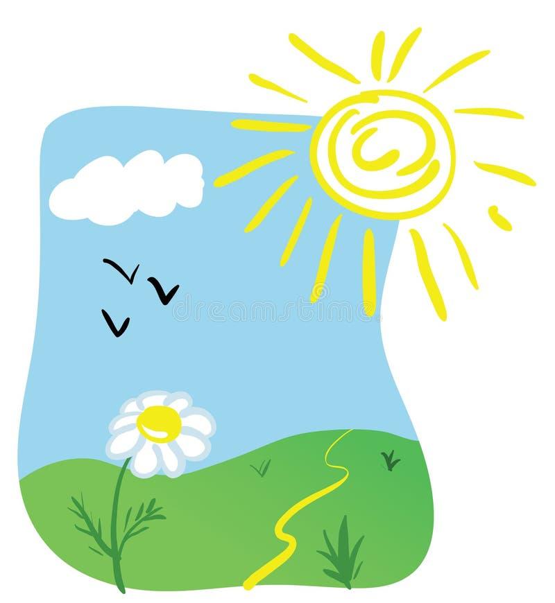 cartoon spring illustration stock vector illustration of life rh dreamstime com funny spring cartoon pictures funny spring cartoon pictures