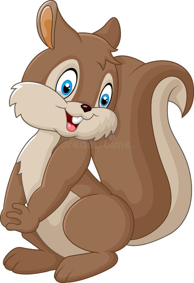 Cartoon squirrel posing. Illustration of Cartoon squirrel posing vector illustration