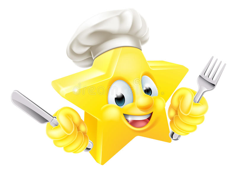 Cartoon Star Chef stock illustration