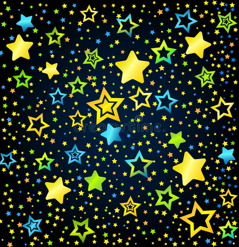 Cartoon Star Colored Background Stock Photography Image