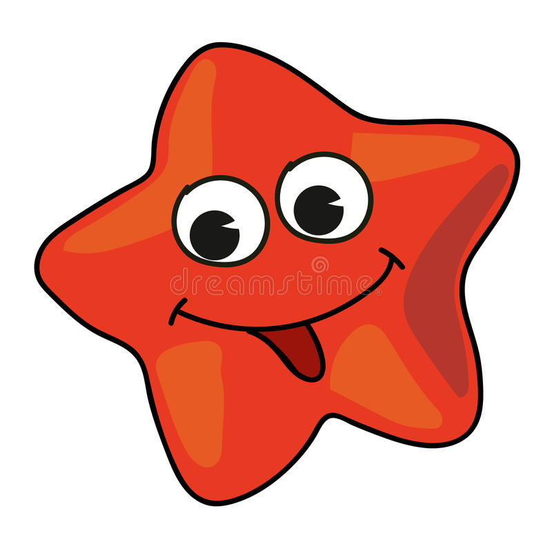 Cartoon starfish clipart