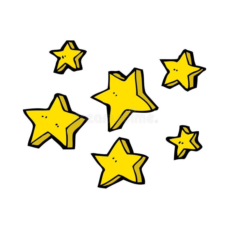 cartoon stars stock illustration