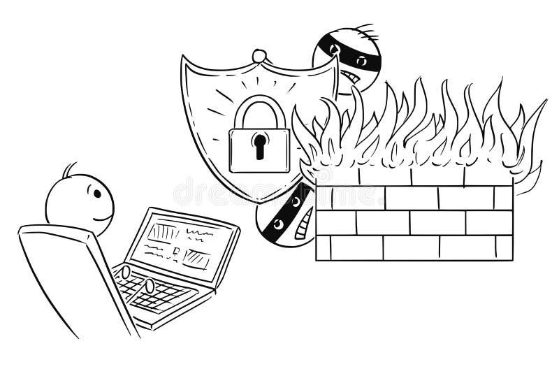 firewall computer network stock illustration  illustration