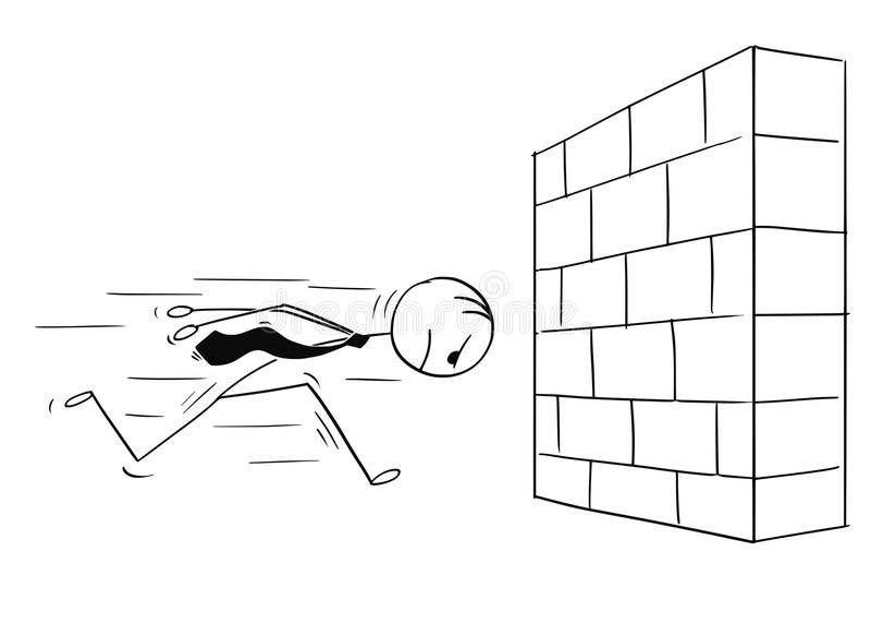https://thumbs.dreamstime.com/b/cartoon-stick-man-drawing-conceptual-illustration-headstrong-businessman-running-against-brick-wall-head-first-business-concept-112391908.jpg