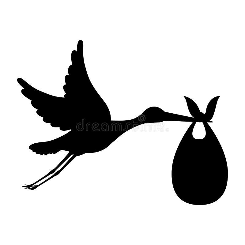 Free Cartoon Stork Design Royalty Free Stock Photography - 79900857