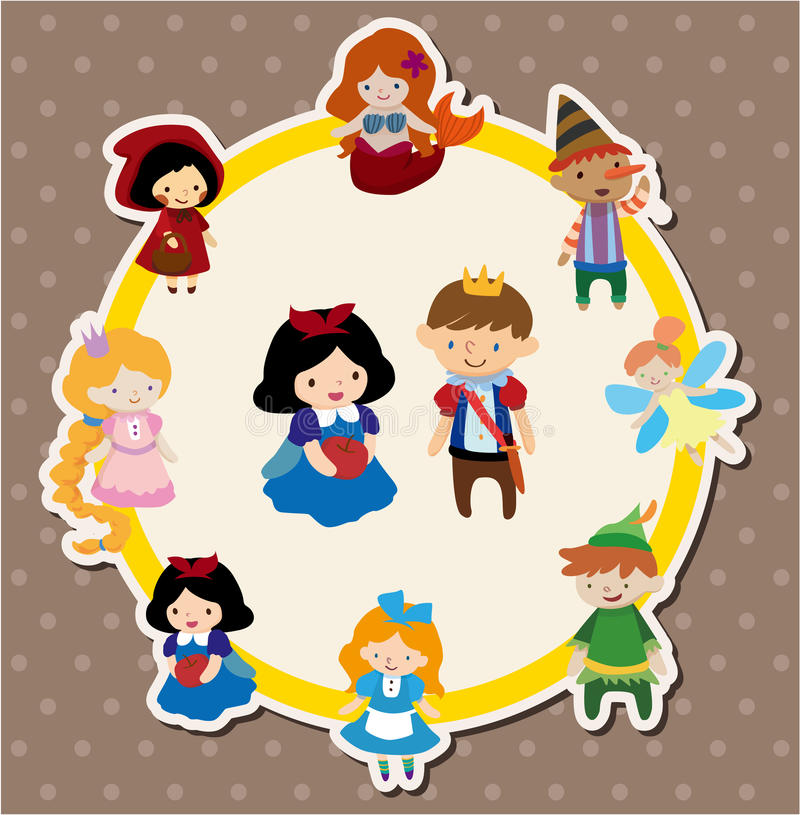 Cartoon story people card vector illustration