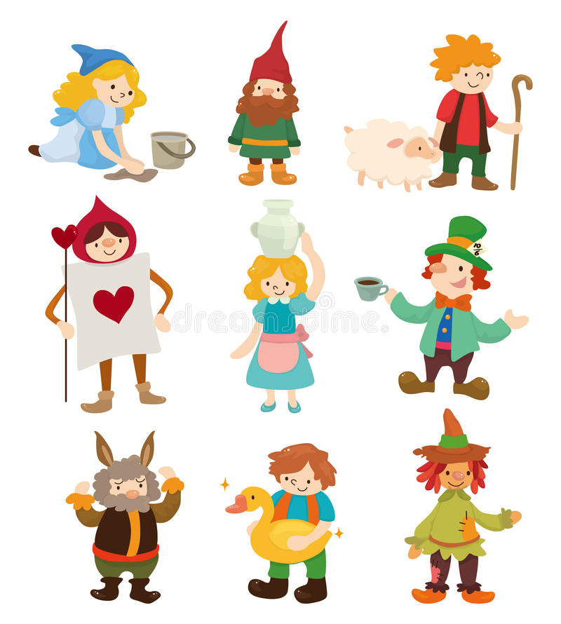 Download Cartoon story people icons stock vector. Image of kingdom - 20961046
