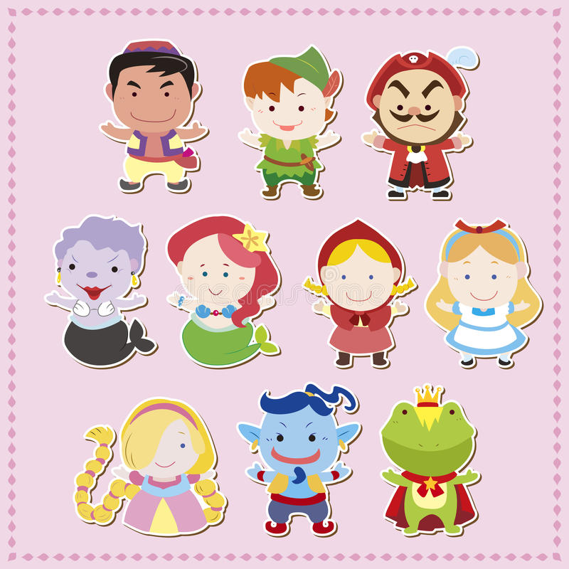 Cartoon story people icons vector illustration