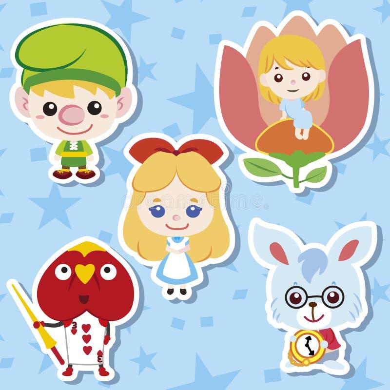 Cartoon story people icons. Vector,illustration stock illustration