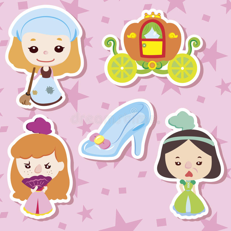 Cartoon story people icons royalty free illustration