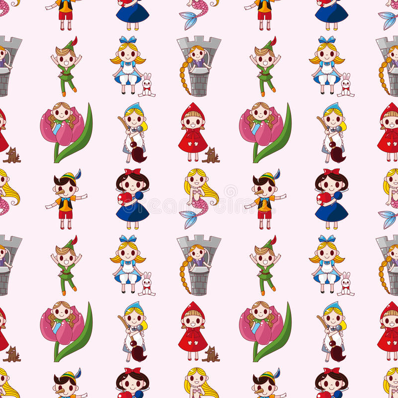 Download Cartoon Story People Seamless Pattern Stock Vector - Image: 28170034