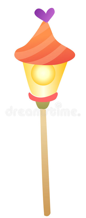 Cartoon street lights. Isolate on a white background royalty free illustration