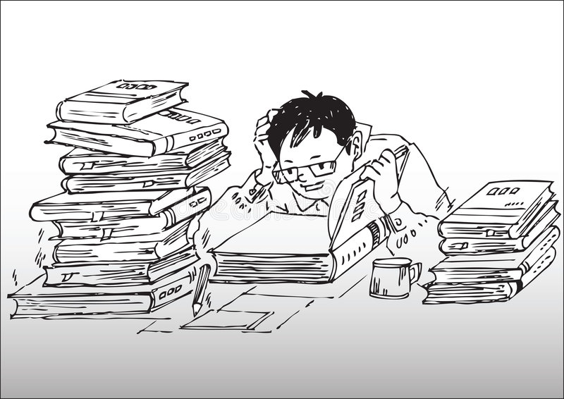 Download Cartoon_studying Working Hard Stock Vector - Image: 8645218