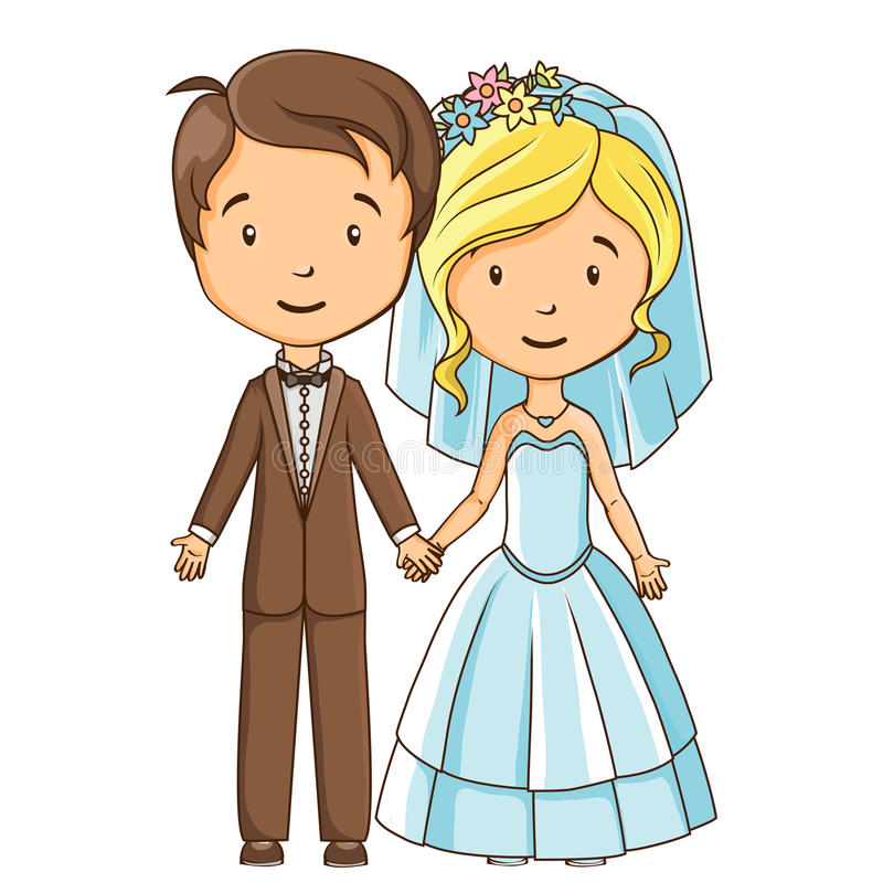 cartoon style bride and groom stock vector illustration of dress rh dreamstime com bride and groom clipart vector bride and groom clipart silhouette