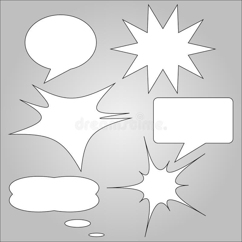 cartoon style bubble speech quote box banner icon flyer illustration icon set isolated backgorund stock illustration