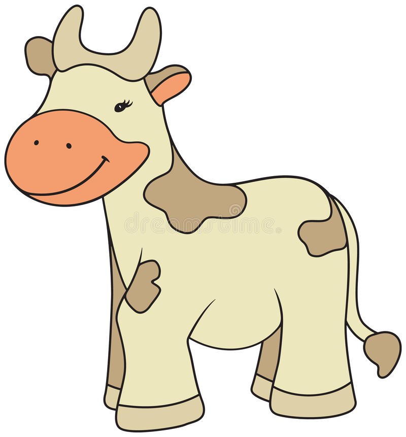Cartoon style cow illustration