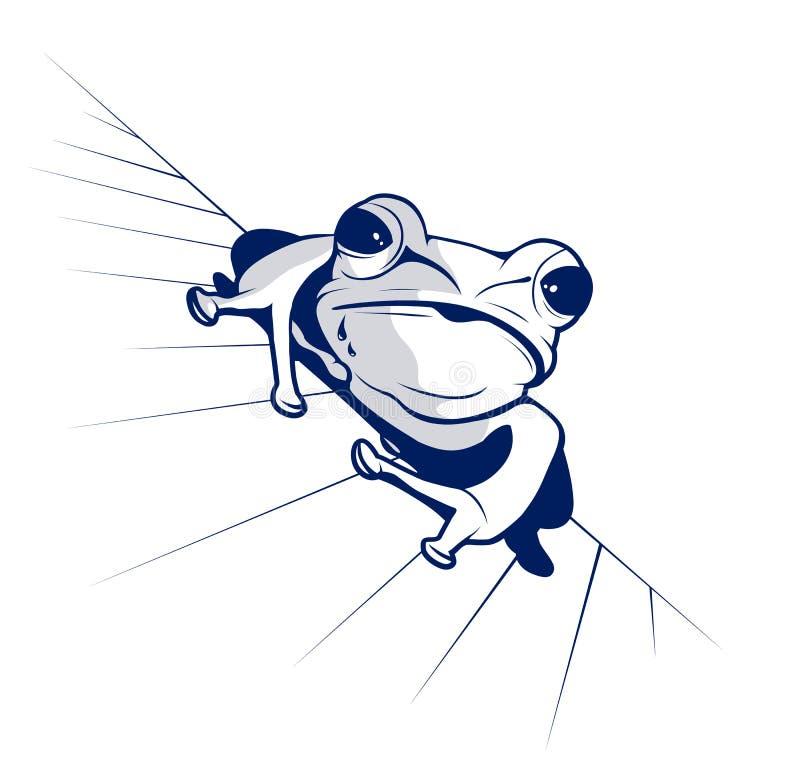 Cartoon style of funny frog stock photos