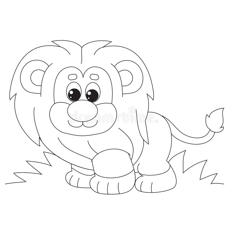 Cartoon Style Little Lion Cub With A Butterfly On Its Tail Drawn In Outline Isolated Object On A White Background Stock Vector Illustration Of Orange Cute 176885342 Find & download free graphic resources for lion cartoon. dreamstime com