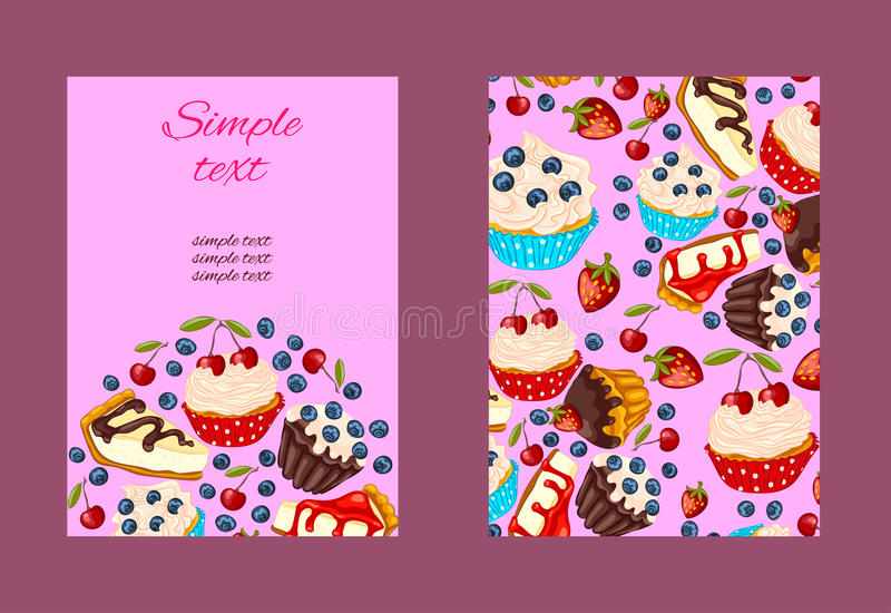 Cartoon style restaurant or cafe menu design. stock photography