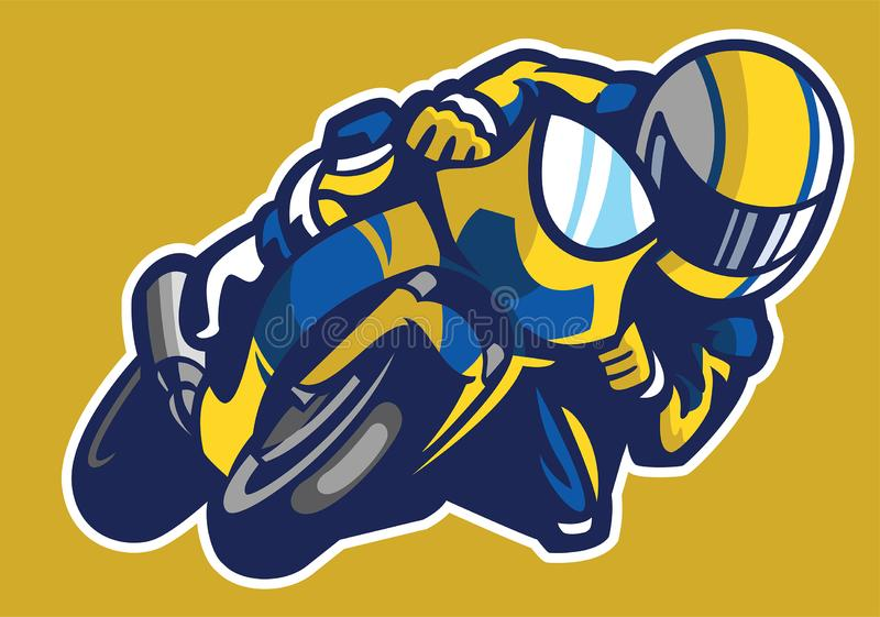 Cartoon style of sportbike race vector illustration