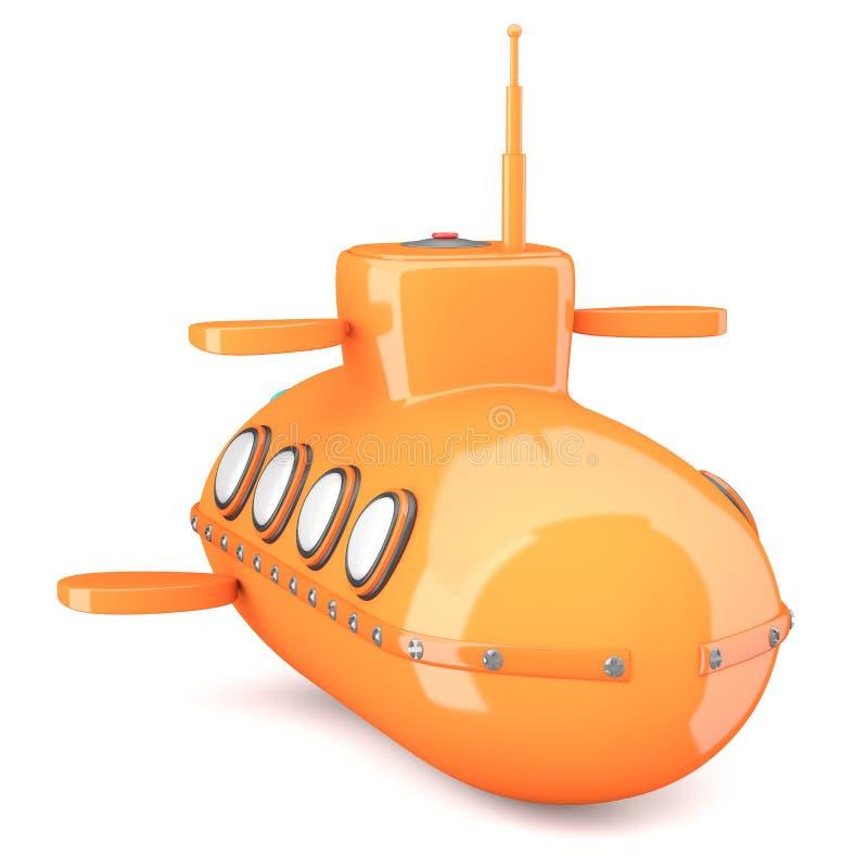 Download Cartoon-styled submarine stock illustration. Image of marine - 33056876