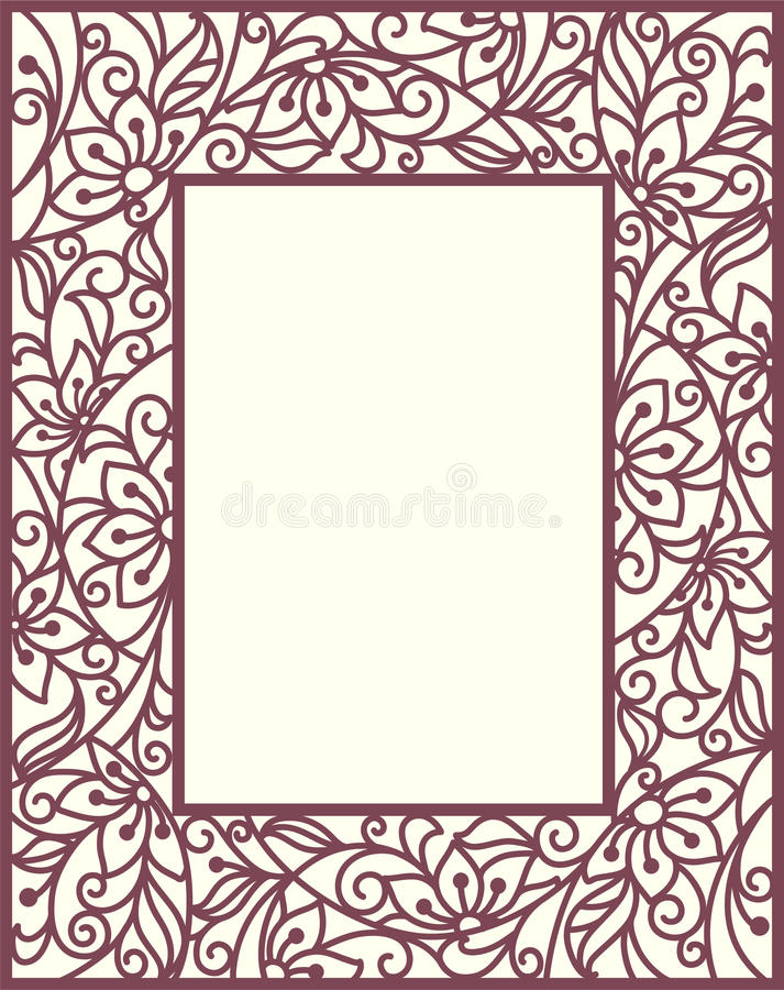 Download Stylization floral frame stock vector. Illustration of beautiful - 29910884