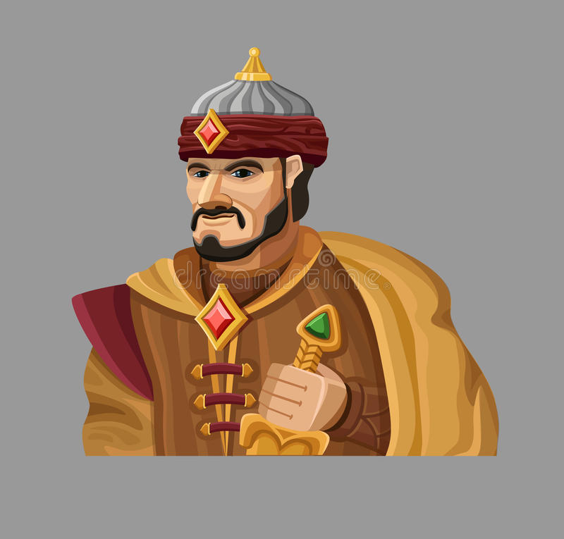 Free Cartoon Sultan In Gold Stock Photography - 59342512