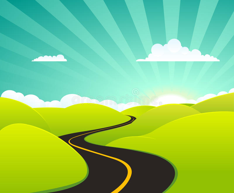 Download Cartoon Summer Highway stock vector. Image of highway - 19958985
