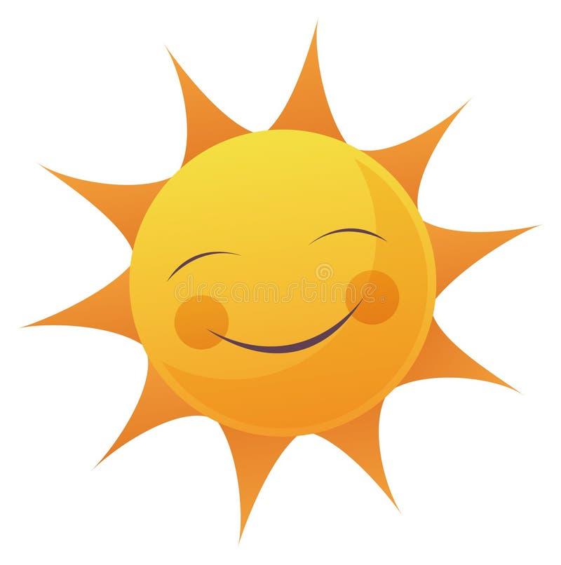 Cartoon Sun Face stock illustration