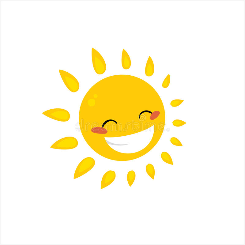 Cartoon sun stock photography