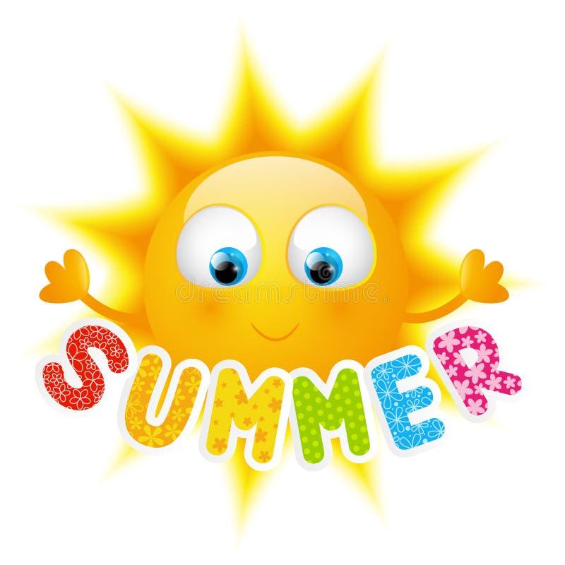 Cartoon Sun With Summer Word Stock Vector - Illustration ... (800 x 800 Pixel)