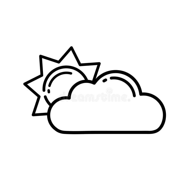 Cartoon sun vector with a cloud outline stock vector illustration download cartoon sun vector with a cloud outline stock vector illustration of cartoon linear voltagebd Choice Image