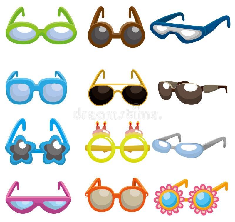 Cartoon Sunglasses Set Icon Stock Vector