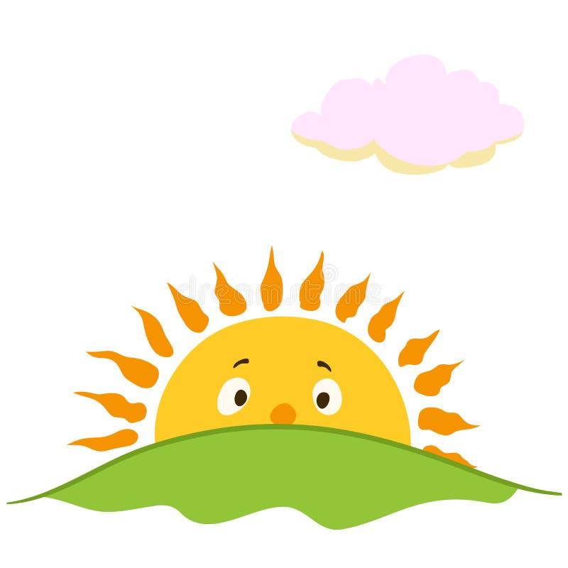 cartoon sunrise stock vector illustration of morning 72526022 rh dreamstime com Sunrise Clip Art Wallpaper cartoon sunshine clip art free