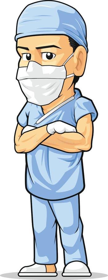 Download Cartoon of Surgeon stock vector. Illustration of blue - 30400572