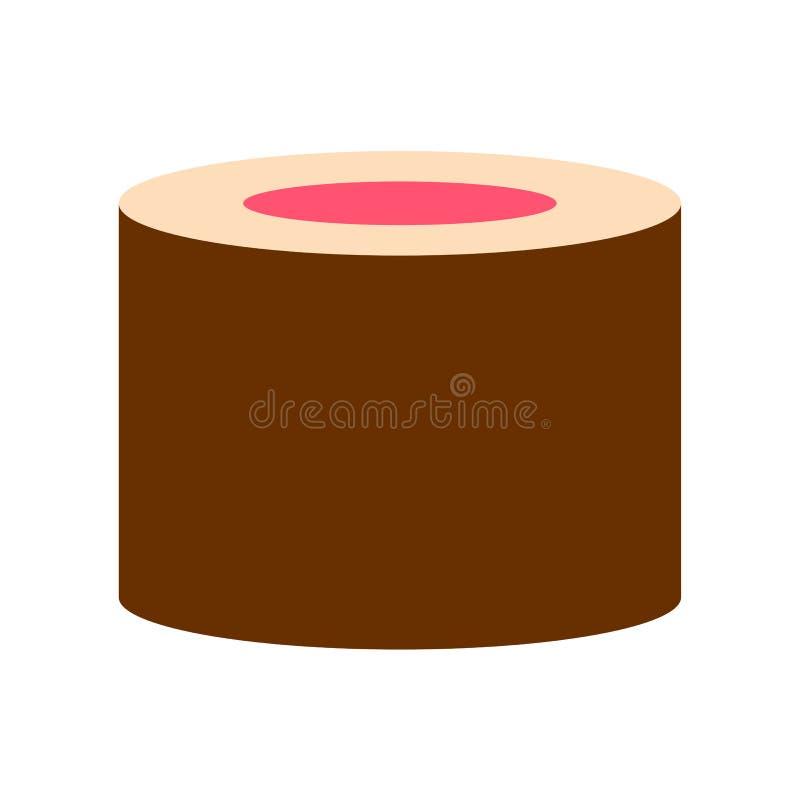 Cartoon Sushi Icon Isolated On White Background. Vector Cartoon Sushi Icon Isolated On White Background stock illustration