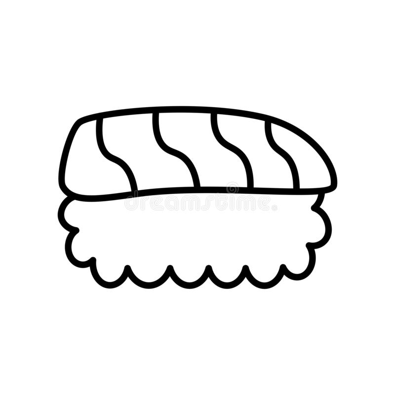 Cartoon Sushi Icon Isolated On White Background. Vector Cartoon Sushi Icon Isolated On White Background vector illustration