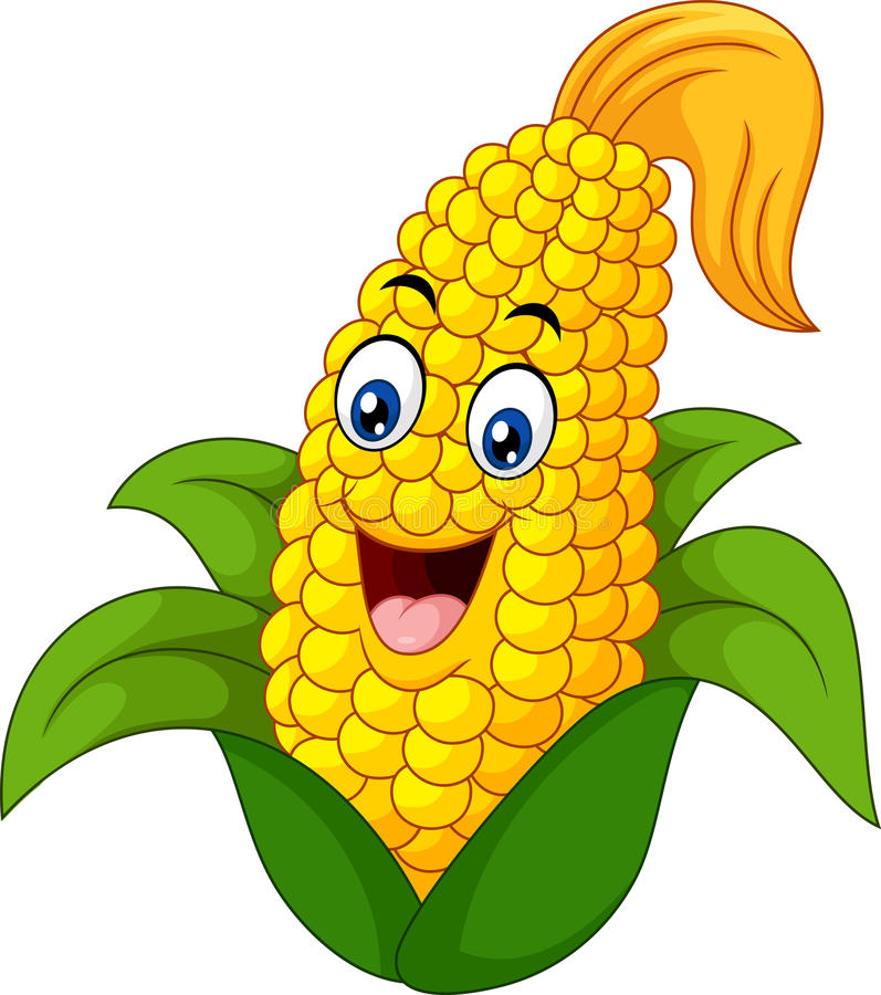 Cartoon Sweet Corn royalty free illustration