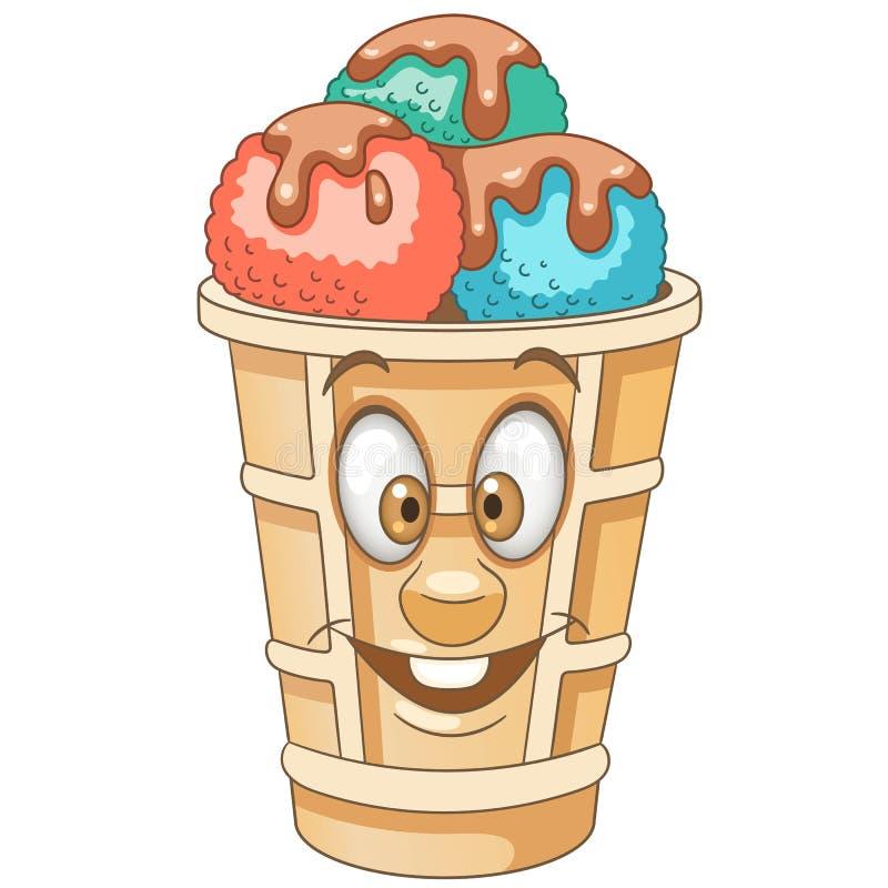 Cartoon Sweet Ice Cream Scoop stock photography