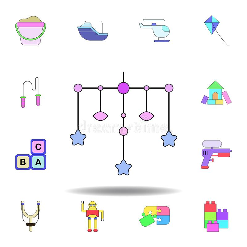 cartoon swing toddler toy colored icon. set of children toys illustration icons. signs, symbols can be used for web, logo, mobile stock illustration