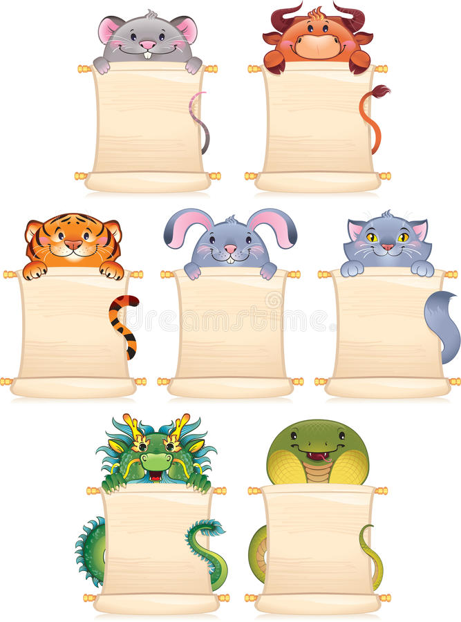 Cartoon symbols of Chinese horoscope
