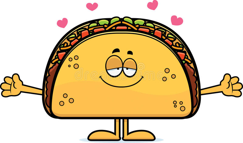 Cartoon Taco Hug vector illustration