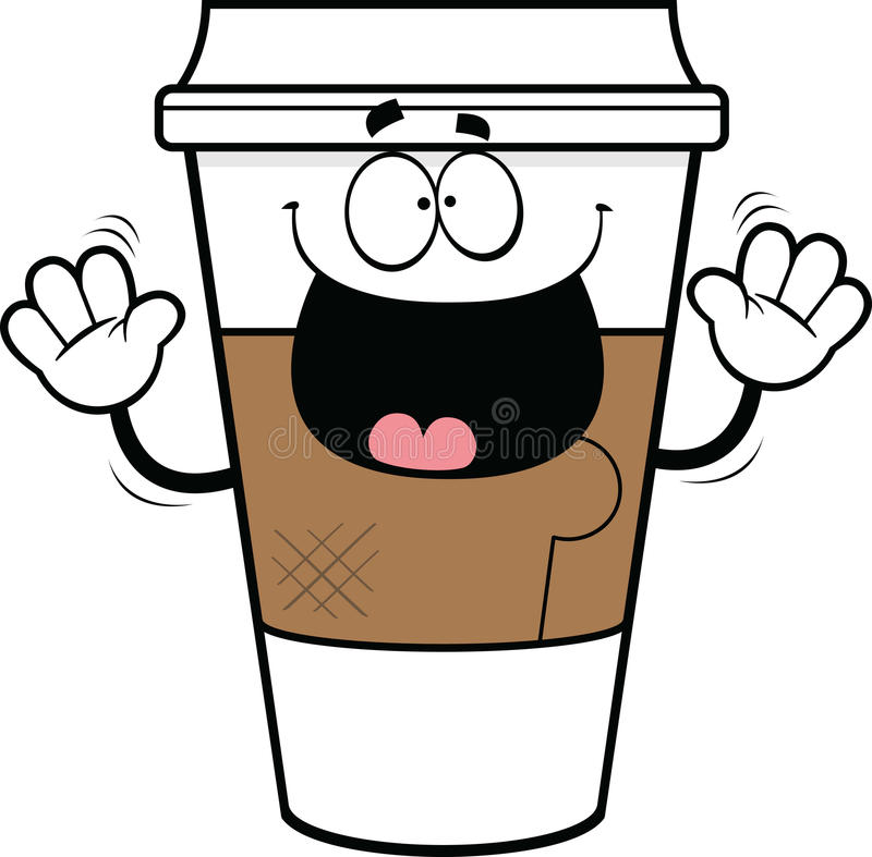 Coffee Take Away Illustration: Cartoon Takeout Coffee Cup Stock Vector